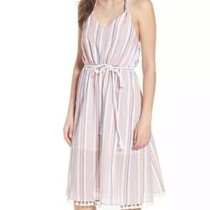 Moon River Small Halter Dress with Tassel Detail